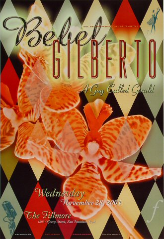 "Bebel Gilberto Poster from Fillmore Auditorium on 28 Nov 01: 13"" x 19"""