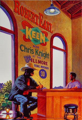 "Robert Earl Keen Jr. Poster from Fillmore Auditorium on 30 Nov 01: 13"" x 19"""