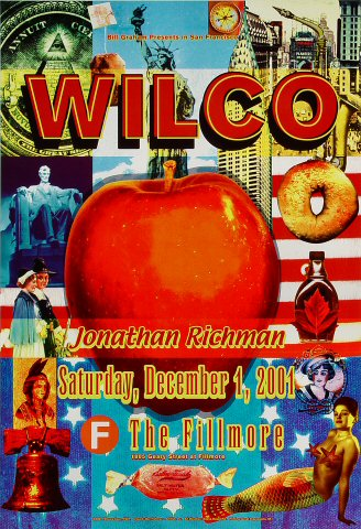 "Wilco Poster from Fillmore Auditorium on 01 Dec 01: 13"" x 19"""