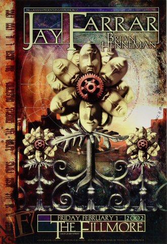 """Jay Farrar Poster from Fillmore Auditorium on 01 Feb 02: 13"""" x 19"""""""