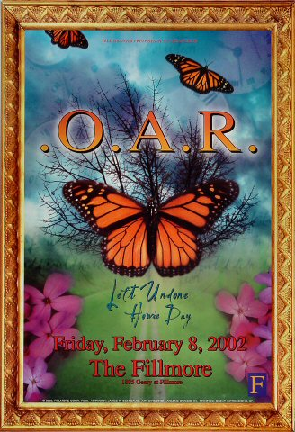 "O.A.R. Poster from Fillmore Auditorium on 08 Feb 02: 13"" x 19"""
