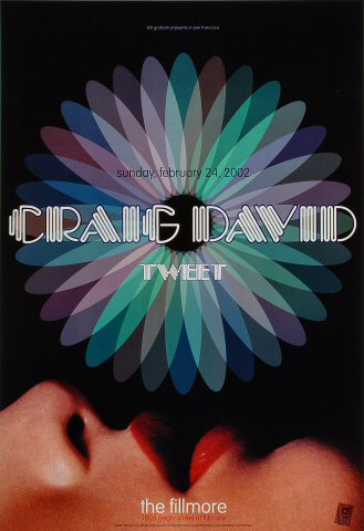 "Craig David Poster from Fillmore Auditorium on 24 Feb 02: 13"" x 19"""