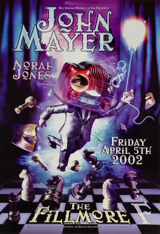 "John Mayer Poster from Fillmore Auditorium on 05 Apr 02: 13"" x 19"""