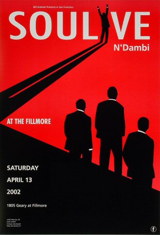 "Soulive Poster from Fillmore Auditorium on 13 Apr 02: 13"" x 19"""