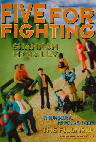"Five for Fighting Poster from Fillmore Auditorium on 25 Apr 02: 13"" x 19"""