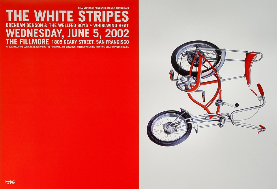 "The White Stripes Poster from Fillmore Auditorium on 05 Jun 02: 13"" x 19"""