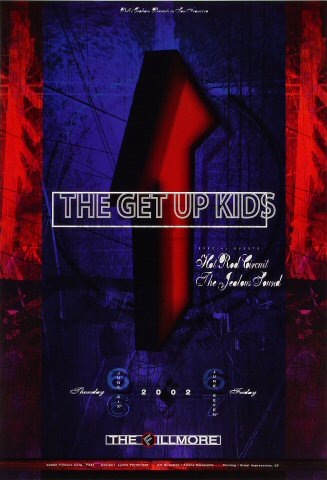 "The Get Up Kids Poster from Fillmore Auditorium on 06 Jun 02: 13"" x 19"""