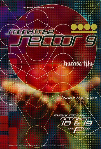 """Sound Tribe Sector 9 Poster from Fillmore Auditorium on 18 Oct 02: 13"""" x 19"""""""