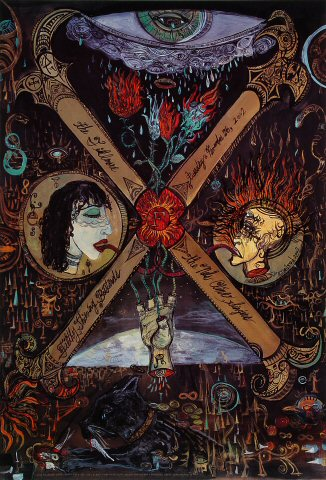"X Poster from Fillmore Auditorium on 26 Nov 02: 13"" x 19"""