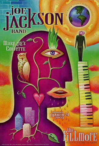 "Joe Jackson Poster from Fillmore Auditorium on 24 Mar 03: 13"" x 19"""