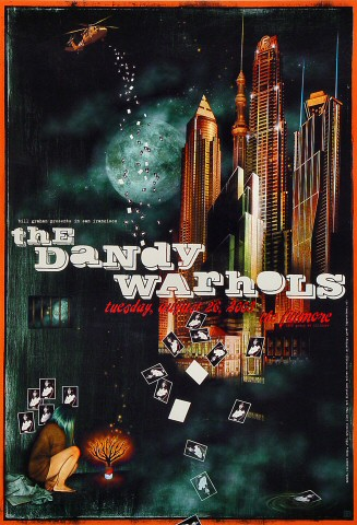 "The Dandy Warhols Poster from Fillmore Auditorium on 26 Aug 03: 13"" x 19"""