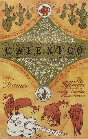 "Calexico Poster from Fillmore Auditorium on 19 Sep 03: 13"" x 19"""
