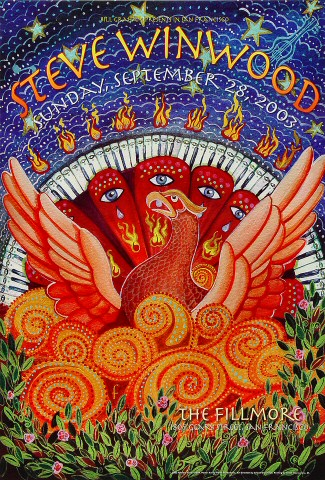 "Steve Winwood Poster from Fillmore Auditorium on 28 Sep 03: 13"" x 19"""