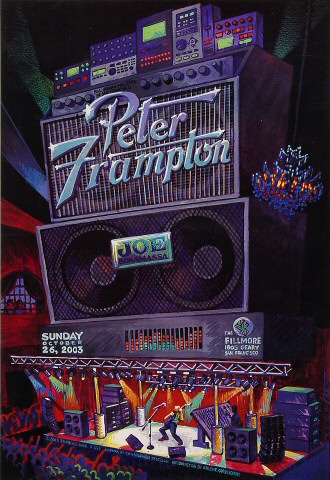 "Peter Frampton Poster from Fillmore Auditorium on 26 Oct 03: 13"" x 19"""