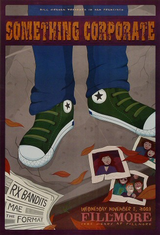 """Something Corporate Poster from Fillmore Auditorium on 05 Nov 03: 13"""" x 19"""""""