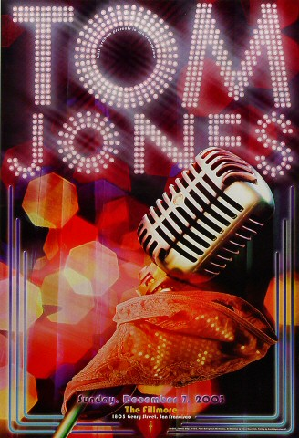 "Tom Jones Poster from Fillmore Auditorium on 07 Dec 03: 13"" x 19"""