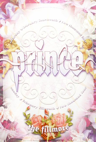 Prince Poster from Fillmore Auditorium on 14 Feb 04: 13&quot; x 19&quot;