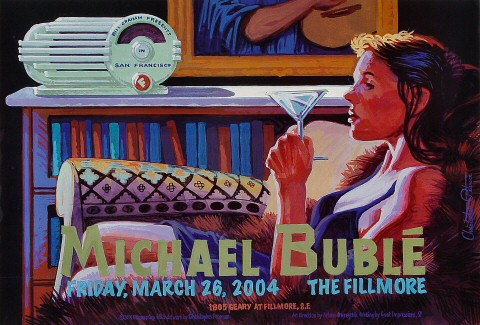 "Michael Buble Poster from Fillmore Auditorium on 26 Mar 04: 13"" x 19"""