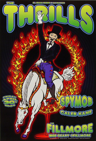 "The Thrills Poster from Fillmore Auditorium on 30 Apr 04: 13"" x 19"""