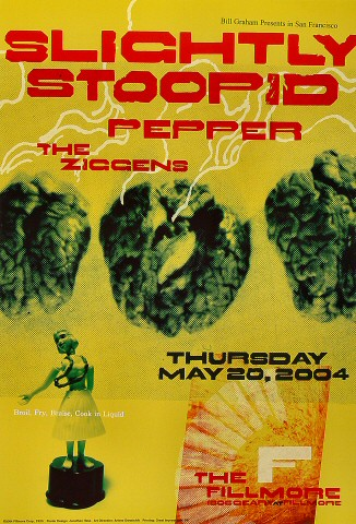 "Slightly Stoopid Poster from Fillmore Auditorium on 20 May 04: 13"" x 19"""