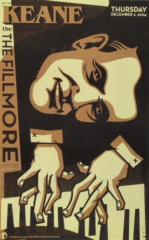 "Keane Poster from Fillmore Auditorium on 02 Dec 04: 12"" x 19"""