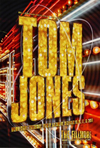 "Tom Jones Poster from Fillmore Auditorium on 15 Dec 04: 13"" x 19"""