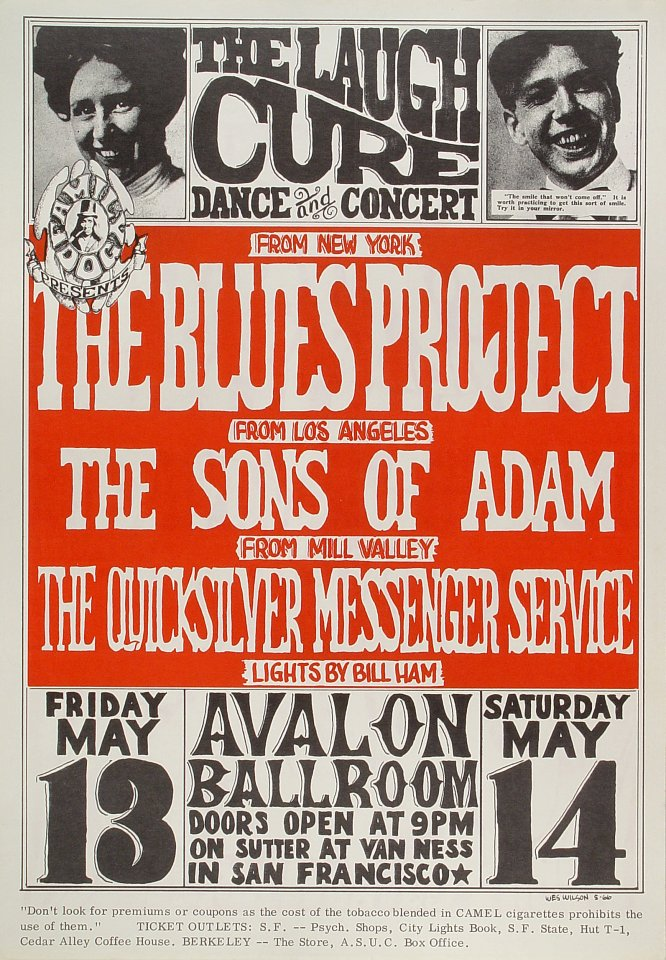 "The Blues Project Poster from Avalon Ballroom on 13 May 66: 13 15/16"" x 20"""