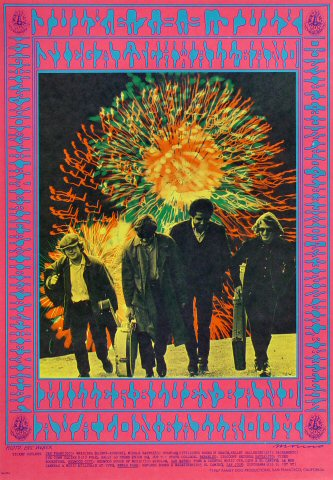 "Siegel-Schwall Band Poster from Avalon Ballroom on 06 Jul 67: 13 15/16"" x 20"""