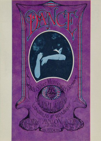 "Quicksilver Messenger Service Postcard from Avalon Ballroom on 15 Dec 67: 5"" x 7"""