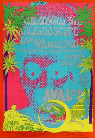 "Siegel-Schwall Band Poster from Avalon Ballroom on 22 Mar 68: 13 15/16"" x 19 15/16"""