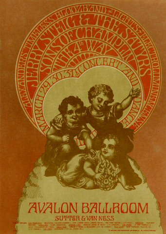 "The Fourth Way Postcard from Avalon Ballroom on 29 Mar 68: 5"" x 7"""