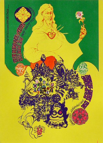 "The Fugs Postcard from Avalon Ballroom on 12 Apr 68: 5"" x 6 1/8"""