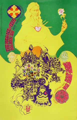 """The Fugs Poster from Avalon Ballroom on 12 Apr 68: 14"""" x 21 11/16"""""""