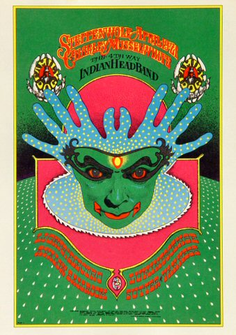 "Steppenwolf Postcard from Avalon Ballroom on 19 Apr 68: 5"" x 7"""