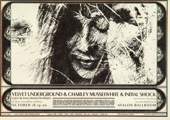 "The Velvet Underground Postcard from Avalon Ballroom on 20 Oct 68: 4 3/4"" x 6 5/8"""