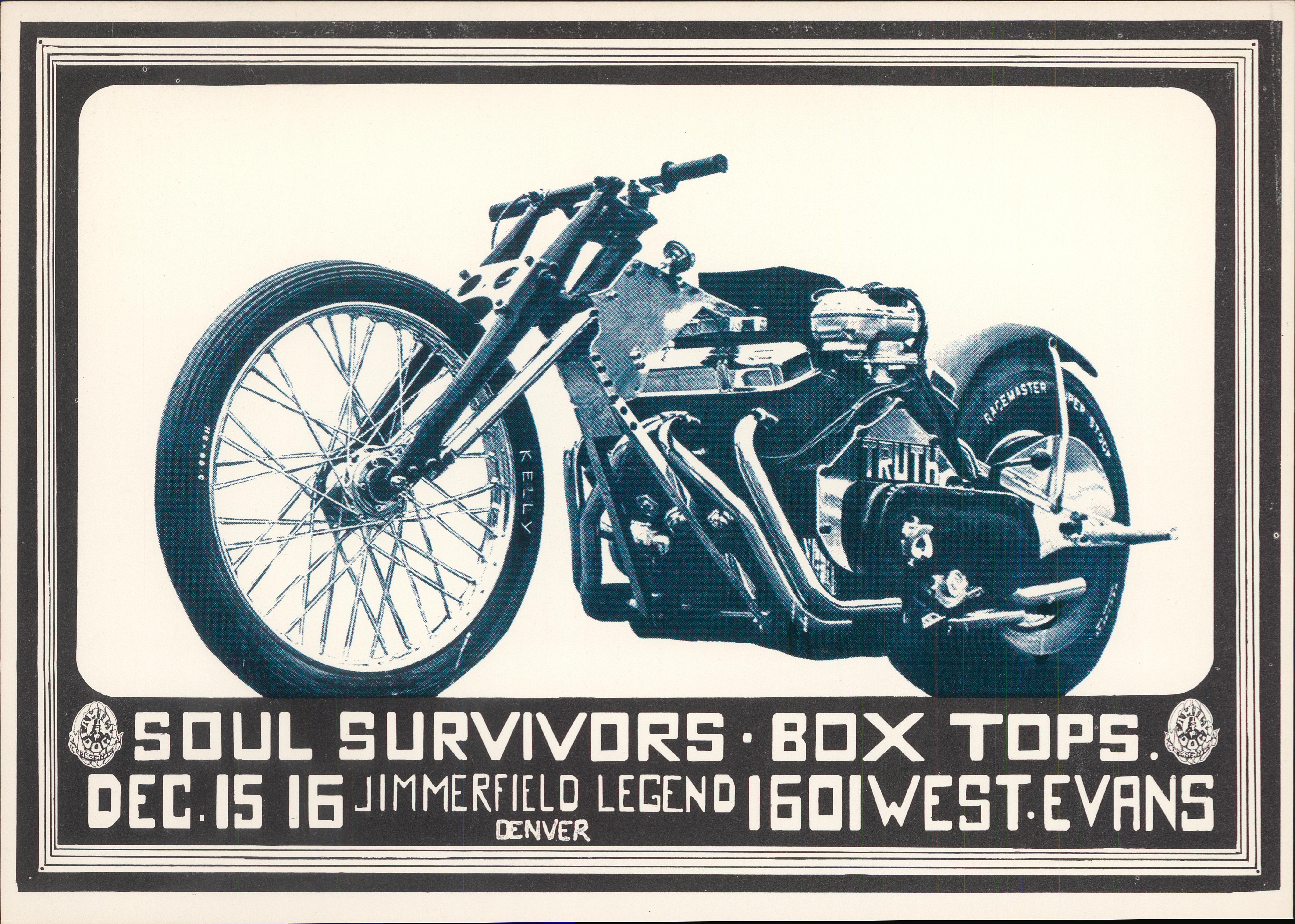 """The Soul Survivors Postcard from Denver Dog on 15 Dec 67: 5"""" x 7"""""""