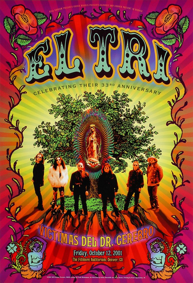 "El Tri Poster from Fillmore Denver on 12 Oct 01: 13"" x 19"""