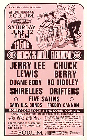 "Jerry Lee Lewis Handbill from Felt Forum on 12 Jun 71: 5 1/2"" x 8 3/4"""