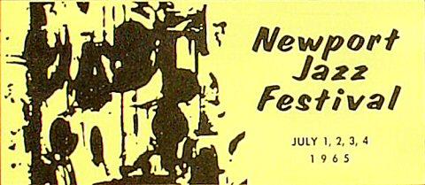 """Dizzy Gillespie Program from Festival Field on 01 Jul 65: 5 5/8"""" x 8 1/4"""""""