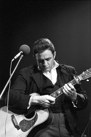 Johnny Cash Fine Art Print from Festival Field on 20 Jul 69: 11x14 Silver Gelatin