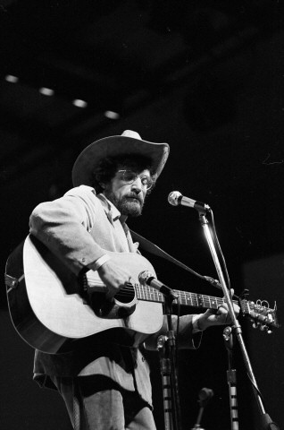 Ramblin' Jack Elliott Fine Art Print from Festival Field on 20 Jul 69: 16x20 Silver Gelatin