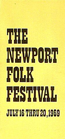 Carl Perkins Program from Festival Field on 20 Jul 69: 4&quot; x 8 1/2&quot;
