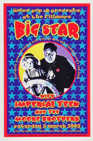 "Big Star Handbill from Fillmore Auditorium on 02 Mar 02: 4"" x 6"""