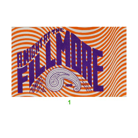 Joan Baez Laminate from Fillmore Auditorium on 07 Jul 86: Laminate 2
