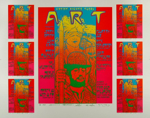 "Jerry Garcia Proof from Fillmore Auditorium on 18 Mar 87: 23 1/8"" x 29"""