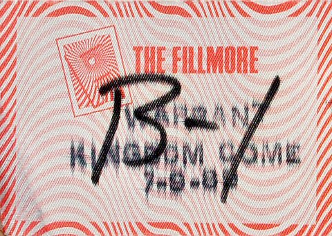 Warrant Backstage Pass from Fillmore Auditorium on 09 Jul 89: Pass 1