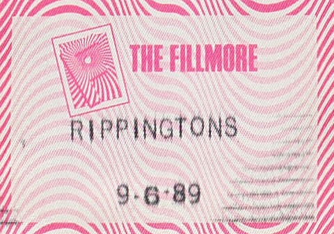 The Rippingtons Backstage Pass from Fillmore Auditorium on 06 Sep 89: Pass 1