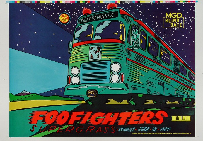 "Foo Fighters Proof from Fillmore Auditorium on 18 Jul 97: 14"" x 20"""
