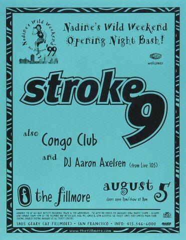 """Stroke 9 Handbill from Fillmore Auditorium on 05 Aug 99: 8 1/2"""" x 11"""""""