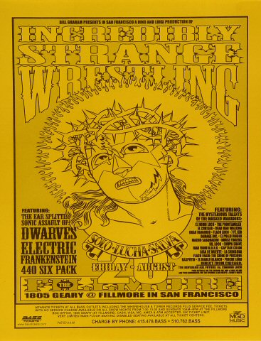 "Dwarves Handbill from Fillmore Auditorium on 20 Aug 99: 8 1/2"" x 11"""